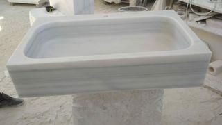 fregadero de mármol blanco macael