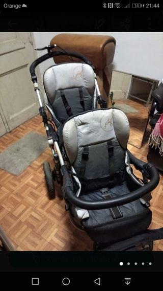 carrito gemelos JANÉ con freno disco delantero