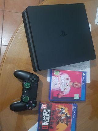 PS4 Slim 500Gb mas juegos