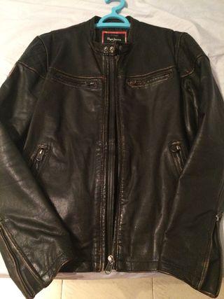 Cazadora de cuero autentico Pepe jeans talla M