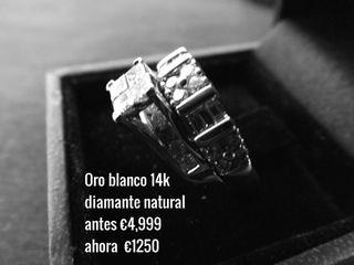 Anillos de Oro Blanco y diamantes (2) certificados
