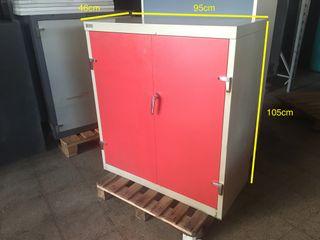 Estanteria metalica puerta roja, Ref: 010907
