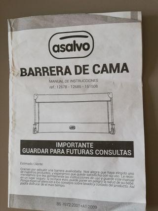 BARRERA CAMA 90 CM BARQUITO PAPEL Asalvo