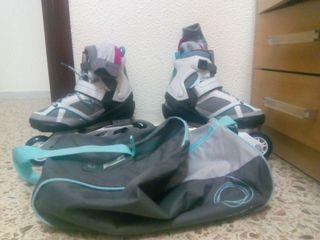 Patines con bolsa y calcetines
