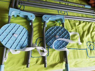 Barrera plegable cama nido 150 cm. Nube azul