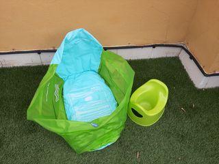 Bañera inflable y orinal para bebes