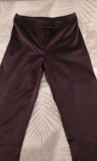 Pantalones campana de raso