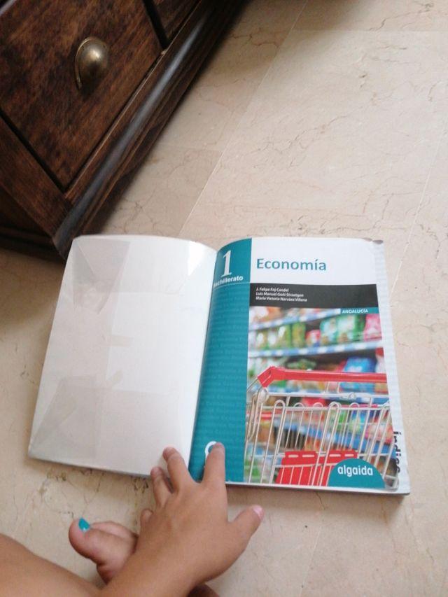 libro economia 1°bachillerato, editorial algaida