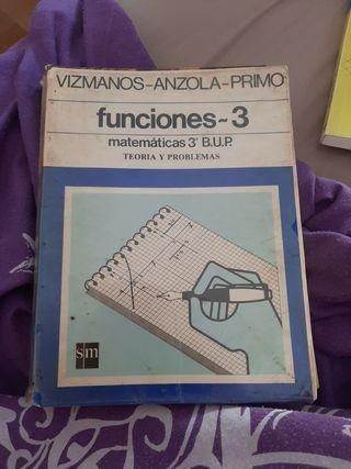 libro matemáticas funciones 3 B.U.P