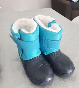 Botas nieve niño niña talla 23 24 de segunda mano por 10