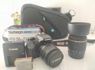Canon 1000D + dos objetivos