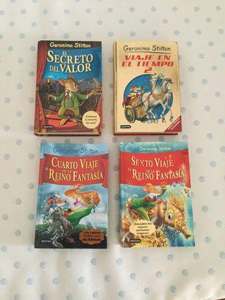 Pack de 4 libros gordos de Geronimo Stilton