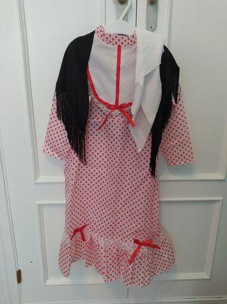 Vestido chulapa niña talla 1-2 años
