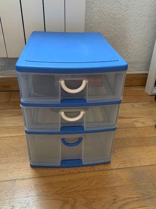 Mueble de Plástico de 3 cajones