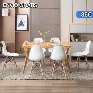 Pack de 6 Sillas diseño Nordico NUEVAS