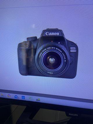 Canon Eos 4000D objetivo EF S 18-55mm III 18 MP