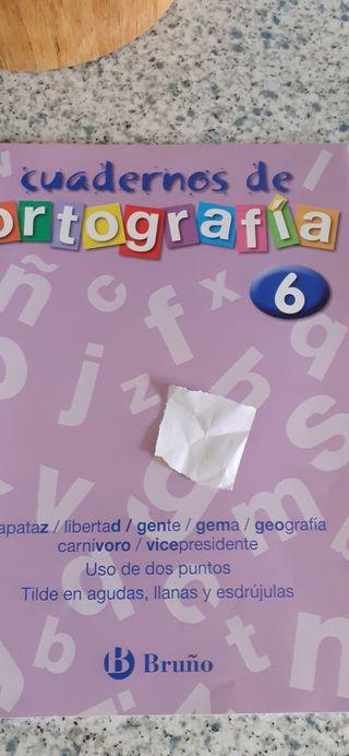 Cuadernos ortografía anaya