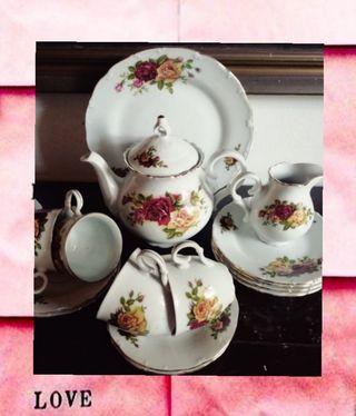 #Té #Vintage #Porcelana #Checa
