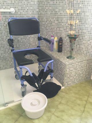 Silla ducha y WC para Discapacitados y Ancianos