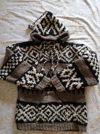 Chaqueta indie lana natural