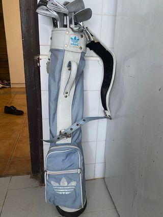 Bolso Adidas con 10 palos de golf wilsons