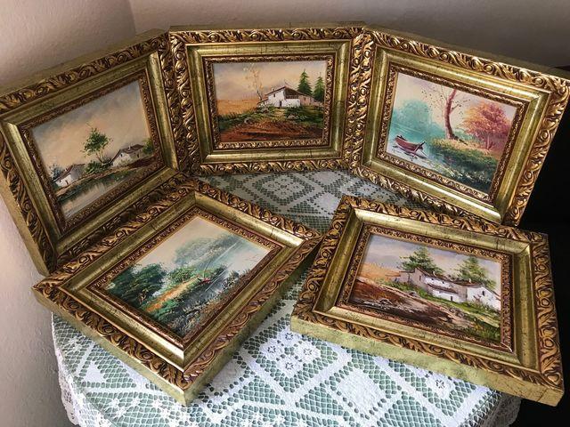 5 cuadros paisajes