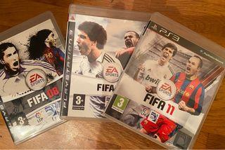 FIFA 08, 09 y 11. Playstation