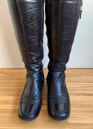 Botas negras de piel - Lamica