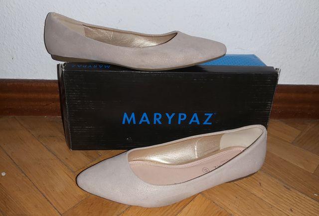 Manoletinas doradas - Marypaz