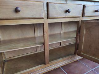 Alacena rústica de madera maciza