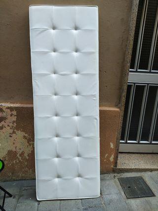 cabecero acolchado blanco de diseño