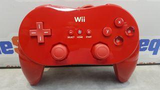 Mando Clasico Wii Nintendo Rvl-005 Rojo