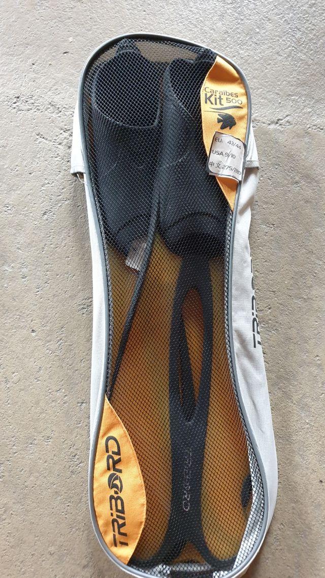aletas snorkel pies, tallas 39 y 44