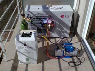 Recargar de gas aire acondicionado