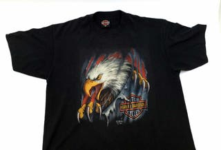 Camiseta Vintage Harley Davidson 3D Emblem 1990 XL