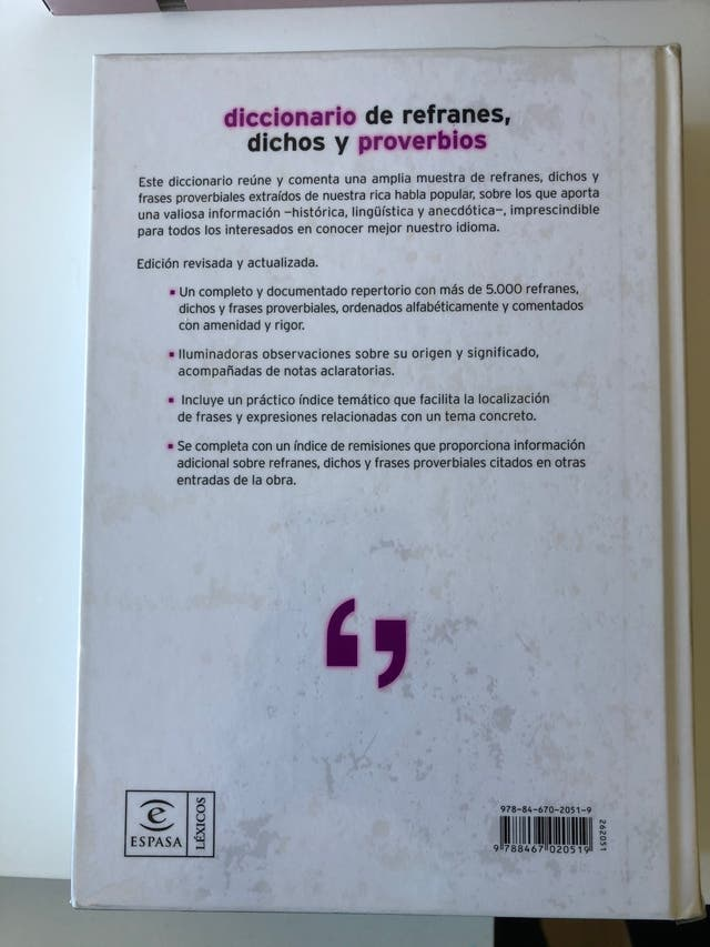 Diccionario de refranes, dichos y proverbios