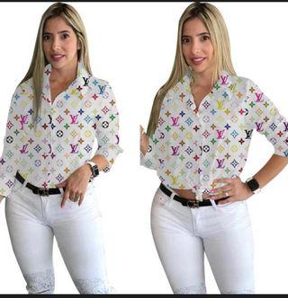 Camisa blanca monograma LV