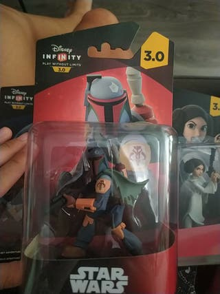 Disney Infinity 3.0 Figuras-Boba Fett, Luke y Leia