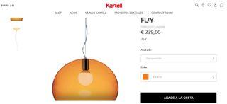 KARTELL FLY Lampara elegante