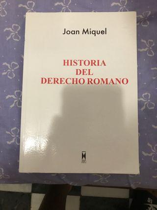 Se vende manual de la historia del derecho Romano