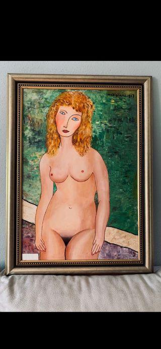 Cuadro. Desnudo de pie. A.Modigliani.