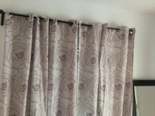 Cortinas de salón /dormitorio moradas y blancas