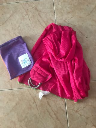 Bandolera foulard baby agua