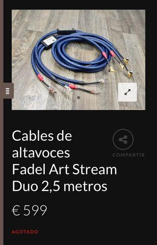 Cables de altavoces High end Fadel Art
