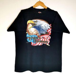 Camiseta Vintage RARA Harley Davidson 3D Emblem 91