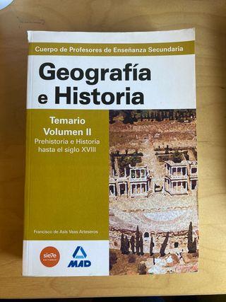 Libro de oposiciones Geografía e Historia