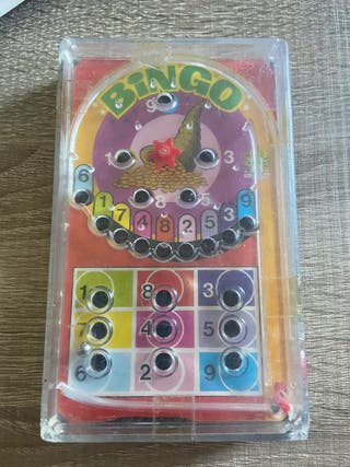 Juego vintage bingo tipo pinball