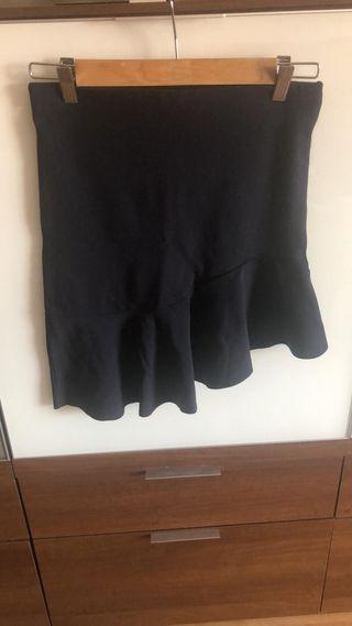 Falda de Zara collection asimétrica azul
