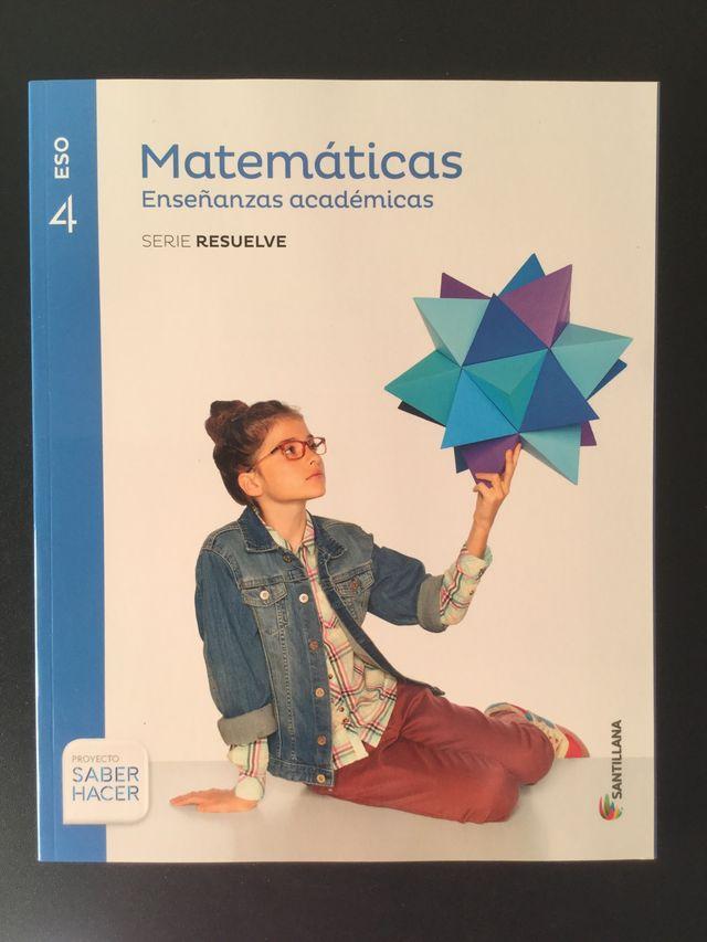 Matemáticas Académicas 4º Eso Santillana De Segunda Mano Por 20 En Mutxamel En Wallapop