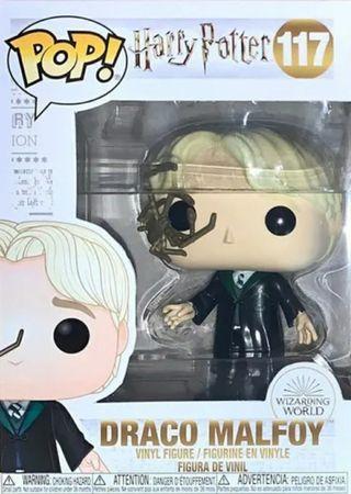 Draco Malfoy De Harry Potter Con Araña Pop Vinilo Figura 117 Nuevo Funko Bobble Head